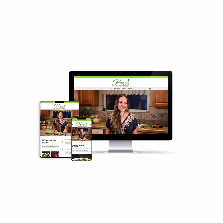Custom Built Website Design for Hanna's Healthy Kitchen