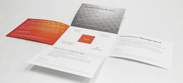 Cross Fold Brochure delivers a large amount of information, with a small footprint