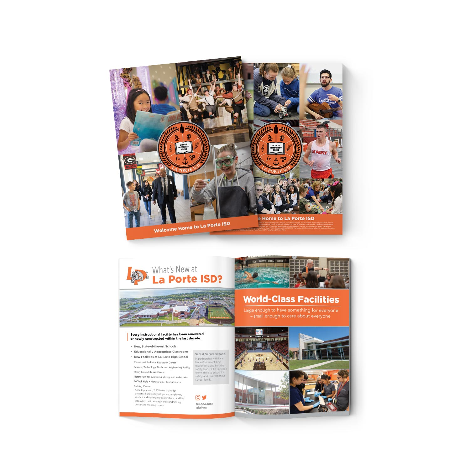 New Branding and Marketing Collateral and Brochure for La Porte ISD.