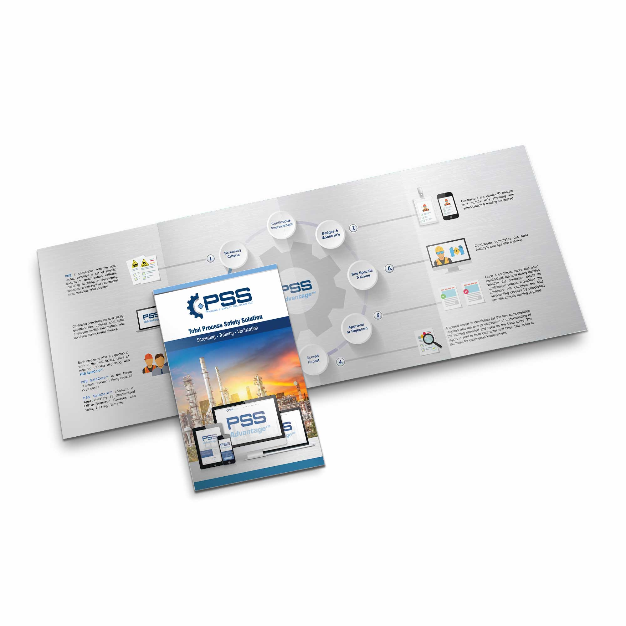 Quad-Fold Graphic Design Brochure