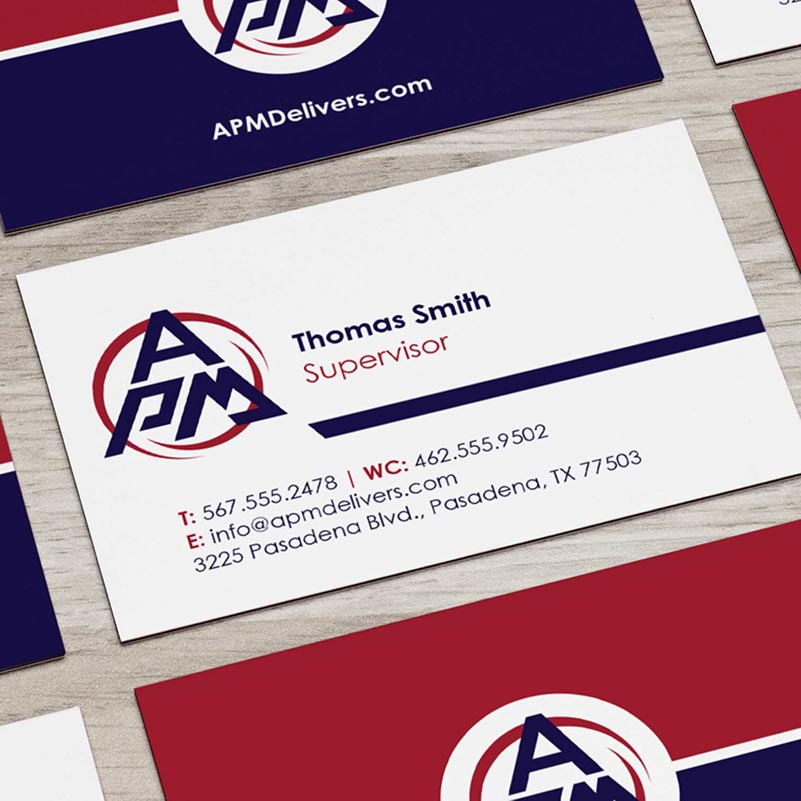 Printing Design APM Business Cards