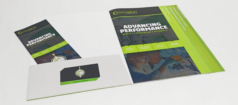 Staggered Presentation Speciality Brochures and Folders