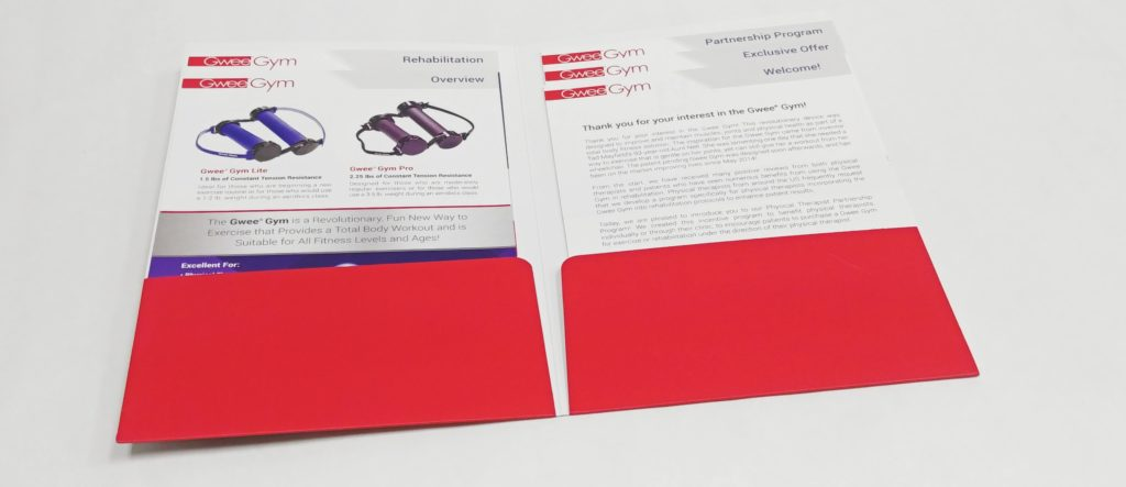 Speciality Folder with Staggered Sales Sheets