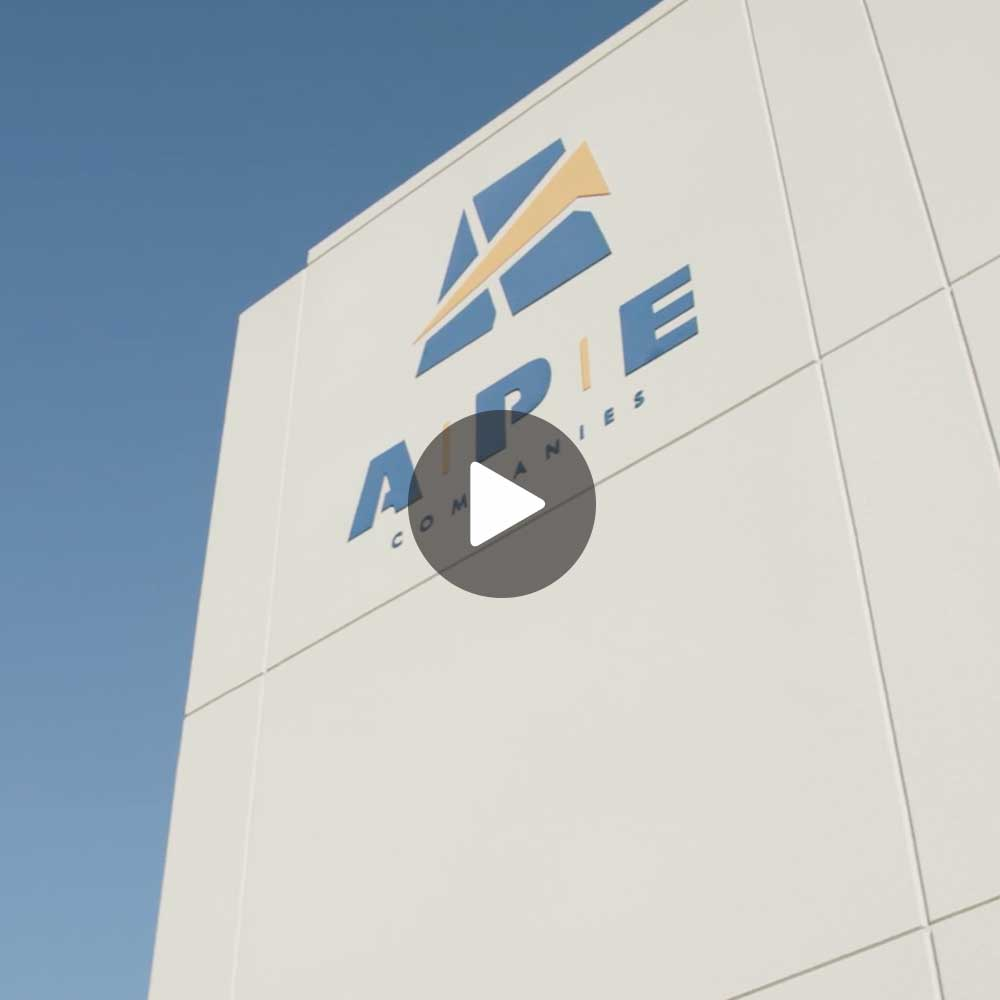 Corporate video featuring on-site footage of their facilities, along with voice over & graphics for A.P.E.