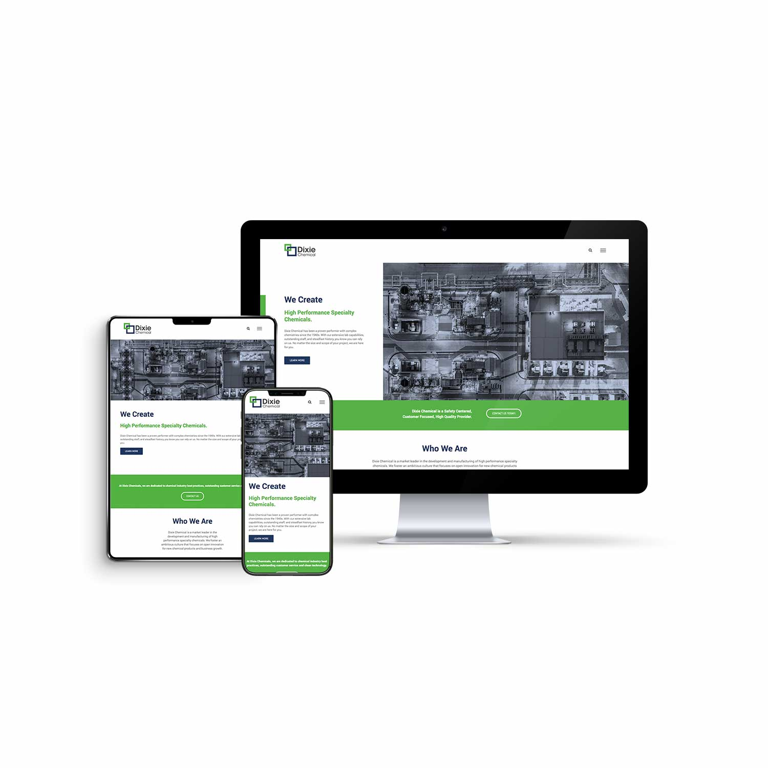 Website design and development for Dixie Chemical.