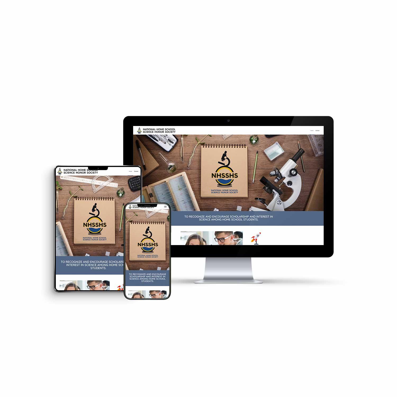 Professionally Built Website Design for Homeschool Association