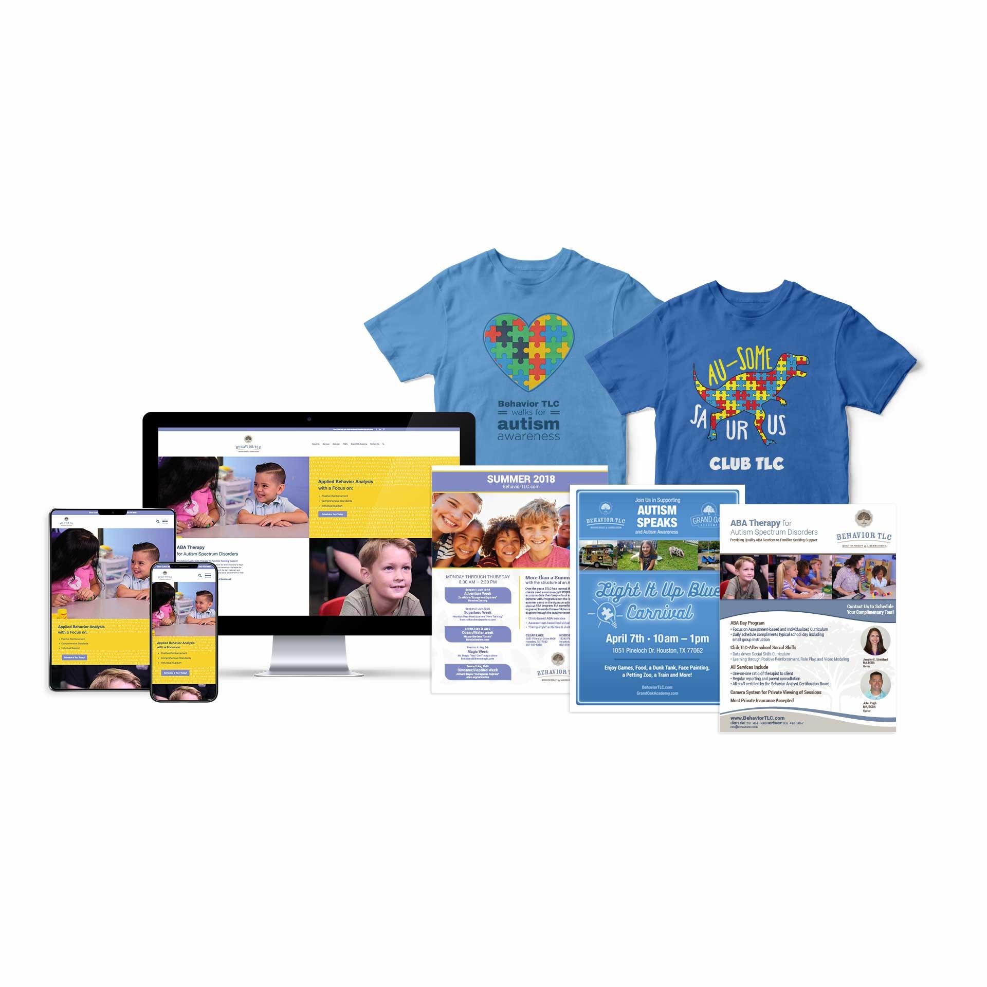 Graphic design, printing, website design for Behavior TLC.