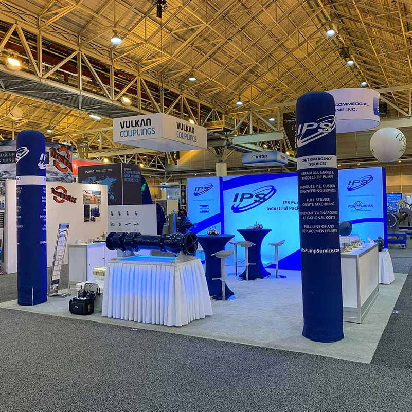 Print and Design of Trade Show Display for IPS in Houston Texas